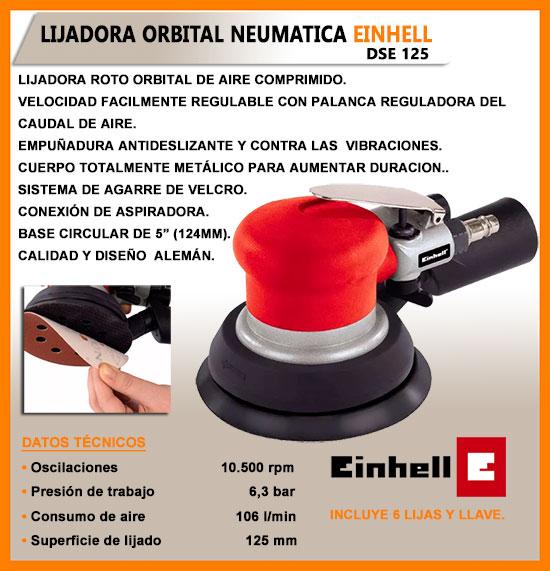 Lijadora rotorbital neumatica dse 125 einhell p compresor - Lijadora orbital neumatica ...